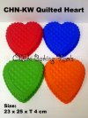 CHN-KW 009 Silicone Quilted Heart